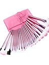 24 Makeup Brush Set Synthetic Hair Portable Professional Full Coverage Synthetic Wood Face Eye Lip