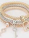 Women\'s Layered Stack Charm Bracelet - Rhinestone, Imitation Diamond Luxury, European, Simple Style Bracelet Rainbow For Christmas Gifts Gift Daily
