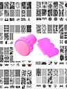 10 pcs חותמת פלייט תבנית עיצוב אופנתי עיצוב ציפורניים פדיקור מניקור מסוגנן / תלבושות / פרח / פלייט Stamping
