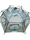 Folding fish cage / fishing cage / shrimp cage / small eye encryption / fishing nets New Folded 80x80cm Floding Crab fish Minnow Fishing Trap Cast Net