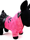 Dog Dress Dog Clothes Casual/Daily Keep Warm Letter & Number Yellow Rose