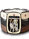 Cat Dog Tent Pet Carrier Foldable Cartoon Yellow Rose Brown Red Dark Red