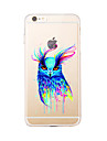 For IPhone 7 7Plus Transparent Pattern Case Back Cover Case Watercolor Owl Soft TPU for iPhone 6s 6 Plus iPhone 6s 6 iPhone 5s 5 5E 5C