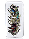 For Case Cover Glow in the Dark IMD Pattern Back Cover Case Feathers Soft TPU for Samsung Galaxy J7 (2016) J7 J5 (2016) J5 J3 J3 (2016)