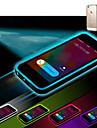 chamada lncoming levou piscar transparente TPU caso capa Voltar para o iPhone 6 mais (cores sortidas)