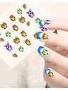 1 Стикер искусства ногтя Наклейка для переноса воды Мультяшная тематика Милый макияж Косметические Ногтевой дизайн