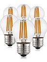 KWB Żarówka dekoracyjna LED 400 lm E26 / E27 G45 4 Koraliki LED COB Ciepła biel 220-240 V, 6 szt. / ROHS