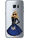 Case For Samsung Galaxy S7 edge S7 Ultra-thin Transparent Pattern Back Cover Sexy Lady Soft TPU for S7 edge S7 S6 edge plus S6 edge S6
