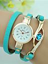 Жен. Часы-браслет Модные часы Кварцевый Имитация Алмазный Кожа Группа Кулоны Черный Белый Синий Красный Темно-синий Роуз