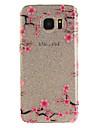 Para IMD Transparente Estampada Capinha Capa Traseira Capinha Flor Macia TPU para Samsung S7 edge S7 S3