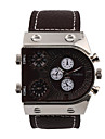 Мужской Спортивные часы Армейские часы Модные часы Наручные часы С тремя часовыми поясами Кварцевый Натуральная кожа ГруппаВинтаж