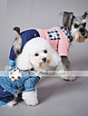 Cat Dog Jumpsuit Dog Clothes Plaid / Check Blue Pink Cotton Costume For Spring &  Fall Winter Men\'s Women\'s Casual / Daily
