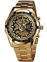 남성용 패션 시계 손목 시계 기계식 시계 오토메틱 셀프-윈딩 스위스 디자이너 합금 밴드 빈티지 캐쥬얼 멀티컬러