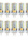 10 stuks 3 W 250-300 lm G4 2-pins LED-lampen T 57 LED-kralen SMD 3014 Warm wit / Koel wit 12 V / RoHs