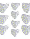 10 шт. 2W 150lm GU4(MR11) Точечное LED освещение MR11 9 Светодиодные бусины SMD 5733 Декоративная Тёплый белый Холодный белый 30V