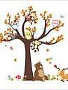 Wall Stickers Wall Decals Style Cartoon Aanimal Owl Monkey Big Tree PVC Wall Stickers