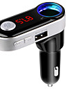 Bluetooth Transmissor FM maos-livres bluetooth car kit porta USB carregador