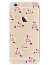 용 울트라 씬 패턴 케이스 뒷면 커버 케이스 꽃장식 소프트 TPU 용 Apple 아이폰 7 플러스 아이폰 (7) iPhone 6s Plus/6 Plus iPhone 6s/6