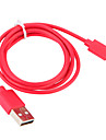 USB 3.0 / Belysning Kabel / Opladerkabel / Opladerledning Normal Kabel iPad / Apple / iPhone for 100 cm Til Plast
