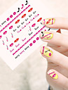 1pcs 3D Nagelstickers Water overdracht sticker Nagel kunst Manicure pedicure Schattig Cartoon / 3D-kynsitarrat