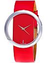 Жен. Модные часы Наручные часы Кварцевый Кожа Группа Творчество На каждый день Cool Черный Белый Красный Коричневый