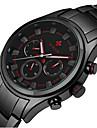 WWOOR Heren Modieus horloge Polshorloge Kwarts Legering Band Vrijetijdsschoenen Zwart Wit Zwart Zwart / Rood Zwart/Zilver Zilver/Blauw