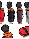 고양이 강아지 그릇&물병 애완동물 그릇 & 수유 휴대용 폴더 블랙 그레이 커피 레드