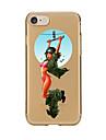 Para Transparente Estampada Capinha Capa Traseira Capinha Mulher Sensual Macia TPU para AppleiPhone 7 Plus iPhone 7 iPhone 6s Plus iPhone