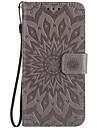 For SONY XZ XPerformace Card Holder Wallet Flip Embossed Case Full Body Case Sunflower Hard PU Leather for XA E5 X M5 M4 M2 XA Ultra Z5 Z5mini Z4 Z3