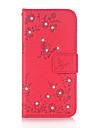 케이스 제품 Samsung Galaxy J5 (2016) J3 (2016) 카드 홀더 지갑 크리스탈 스탠드 플립 엠보싱 텍스쳐 패턴 마그네틱 풀 바디 버터플라이 하드 인조 가죽 용 J5 (2016) J3 (2016) Grand Prime Core