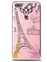 Case For Apple iPhone 7 Plus iPhone 7 Transparent Pattern Back Cover Word / Phrase Eiffel Tower Soft TPU for iPhone 7 Plus iPhone 7