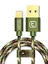 Micro USB 2.0 USB 2.0 Адаптер USB-кабеля Плетение Кабель Назначение Samsung Huawei LG Nokia Lenovo Motorola Xiaomi HTC Sony 300 cm