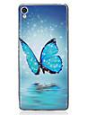 Case For Sony Sony Xperia XA Glow in the Dark IMD Pattern Back Cover Butterfly Soft TPU for Sony Xperia XA Sony