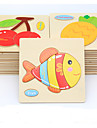 Educational Flash Card Jigsaw Puzzle Wooden Puzzle Fish Animals DIY Cartoon Boys\' Girls\' Toy Gift