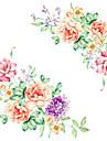 Muoti Kukkakuviot Sarjakuva Wall Tarrat Lentokone-seinätarrat Koriste-seinätarrat, Vinyyli Kodinsisustus Seinätarra Seinä Vessanpönttö