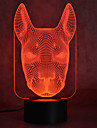 Christmas Dog Touch Dimming 3D LED Night Light 7Colorful Decoration Atmosphere Lamp Novelty Lighting Christmas Light