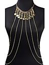 Women\'s Body Jewelry Body Chain Fashion Necklace Belly Chain Bohemian Tassels Charm Alloy For Party Special Occasion Beach Bikini Jewelry