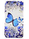 غطاء من أجل Samsung Galaxy J5 (2016) / J3 (2016) حامل البطاقات / مع حامل / قلب غطاء كامل للجسم فراشة قاسي جلد PU إلى J5 (2016) / J3 (2016)