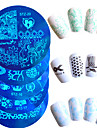 10pcs/set Hot Sale Nail Art Stamping Plate Lovely Cartoon Heart Beautiful Butterfly Flower Design Manicure DIY Beauty Stencils Nail DIY Tool STZ-11-20