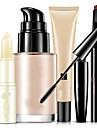 Base+Rimel Sobrancelha+Balsamo Labial Molhado Olhos Rosto Labios Cobertura Corretivo Natural