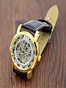 Men\'s Fashion Watch Quartz Leather Band Casual Black