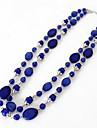 Жен. Ожерелья с подвесками Заявление ожерелья Синтетический сапфир Синтетические драгоценные камни Мода Euramerican Бижутерия Назначение