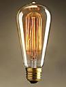 st64 e27 60w edison light art deco ac220v высококачественные лампы накаливания