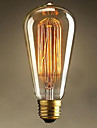 st64 e27 60w edison lumiere art deco ac220v haute qualite ampoules a incandescence