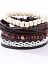 Men\'s Leather Bracelet Costume Jewelry Vintage Punk Leather Resin Round Jewelry For Anniversary Birthday Gift Sports Valentine Christmas