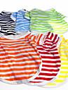 Chien Tee-shirt Vetements pour Chien Decontracte / Quotidien Rayure Orange Jaune Rouge Vert Bleu