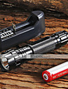 UltraFire LED Flashlights / Torch LED 1300 lm 5 Mode Cree XM-L T6 with Battery and Charger Adjustable Focus Nonslip grip