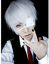 Perucas de Cosplay Mascara Tokyo Ghoul Ken Kaneki Anime Perucas de Cosplay 26 CM Homens