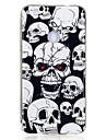 Case For Huawei P9 Lite / Huawei / Huawei P8 Lite Glow in the Dark / IMD / Pattern Back Cover Skull Soft TPU for P10 Lite / P10 / Huawei P9 Lite