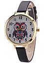 Жен. Модные часы Повседневные часы Кварцевый PU Группа Творчество На каждый день Сова Cool Черный Белый Красный Коричневый